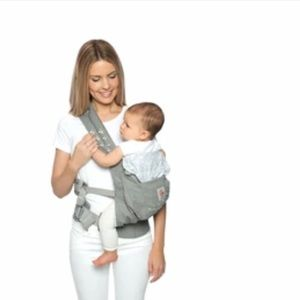 Ergobaby Misty Grey forward facing baby carrier 100% cotton